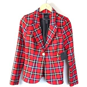Smythe Pocket Duchess Blazer In True Red